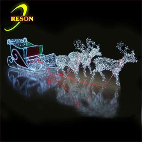 outdoor santa and reindeer decorations lighted santa sleigh and reindeer outdoor decoration memes