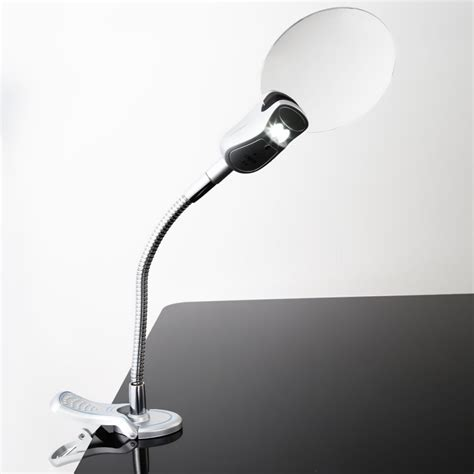 Sale Led 4 Sisi sale 2 5x 90mm 4x 21mm 2 led l magnifier clip on desk table magnifying glass loup