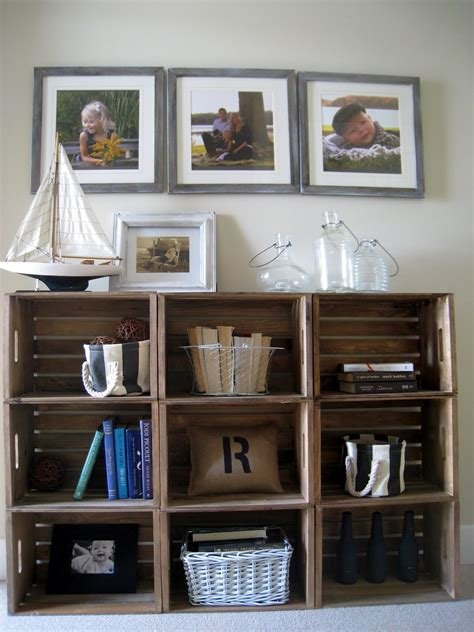 easy crate bookshelves the lilypad cottage