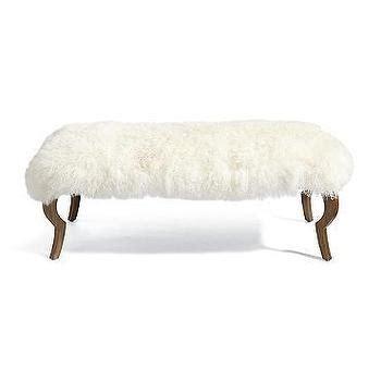pink mongolian fur bench felicity chair