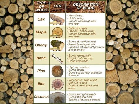 description of firewood types diy prepping