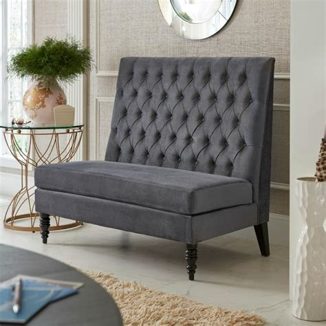 m s settees com pulaski button tufted upholstered settee in