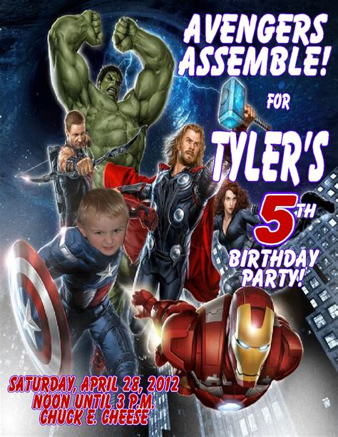 avengers birthday invitations flyers invitation