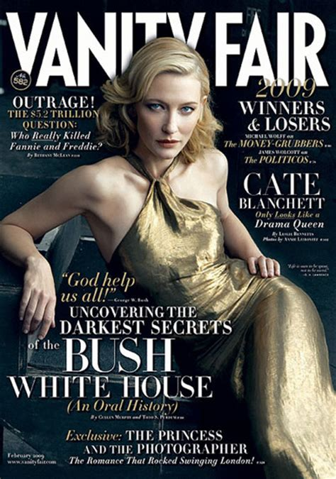 Vanity Fair Vogue by Cate Blanchett Vanity Fair February 2009 Vs Vogue