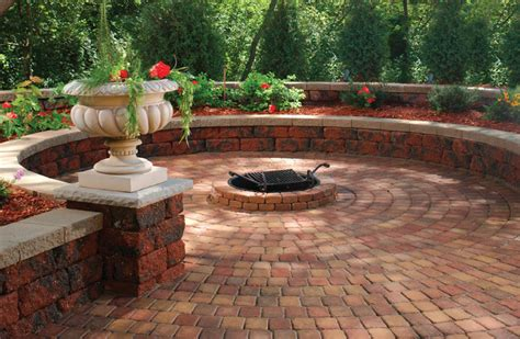 backyard patio ideas with fire pit outdoor living the brickyard