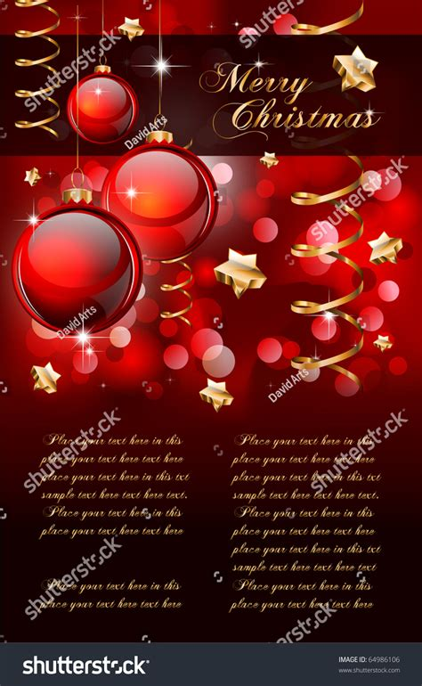 merry christmas elegant background  flyers  posters stock vector illustration