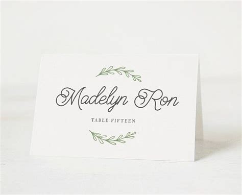 Rustic Place Cards Template by Printable Place Card Template Wedding Place Cards