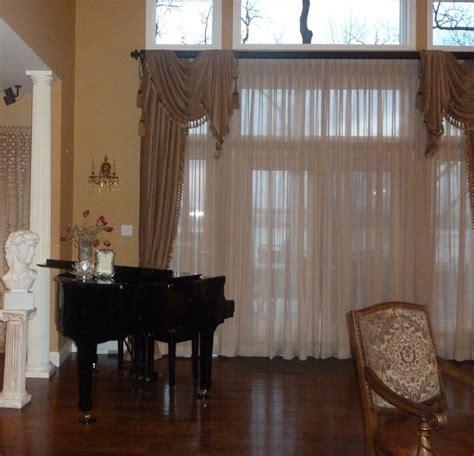 Custom Living Room Window Treatments Custom Draperies And Window Treatments Traditional