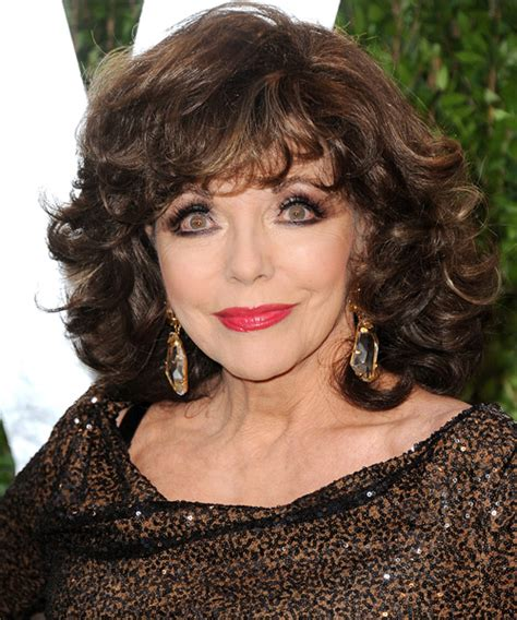 Joan Collins Short Curly Formal Hairstyle with Layered
