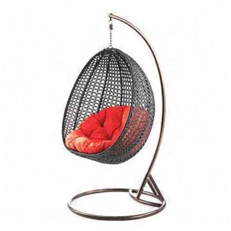 egg shaped outdoor swing chair outdoor furniture fashionable apple shaped rattan egg