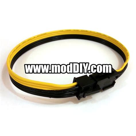 black and yellow wires 6 pin to 6 pin pcie extension cable black yellow ribbon