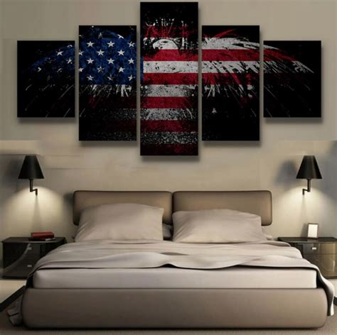 canvas decorations for home 5 pieces canvas painting patriotic bald eagle wall art