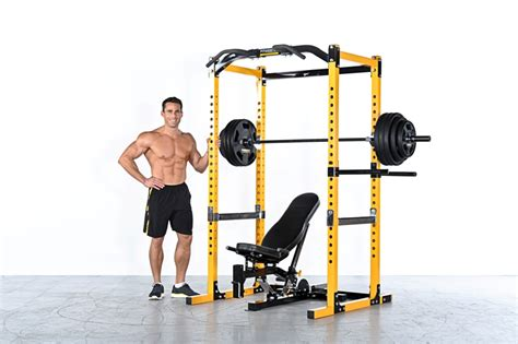 Powertec Workbench Olympic Bench by A Barbell Plus A Powertec Power Rack For A Beach Ready