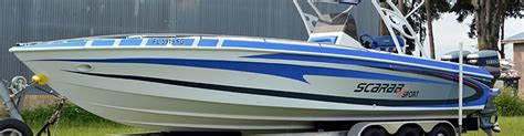scarab boat graphics scarab boat wrap bb graphics the wrap pros