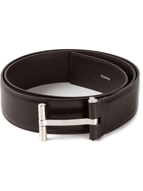 Tom Ford Belts tom ford belt tom ford galvanised buckle belt in brown for