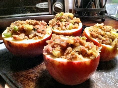 savory stuffed baked apples dishing up the dirt