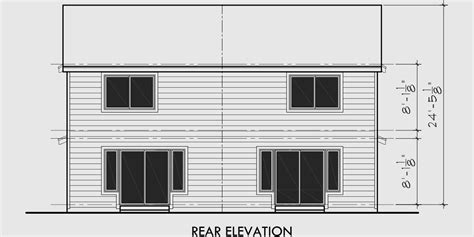 narrow lot duplex house plans  bedroom duplex house plan