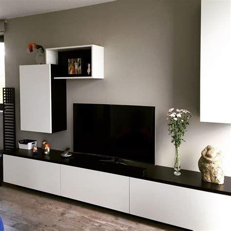 meuble tv sur mesure en m 233 dium laqu 233 noir et blanc 224 lille