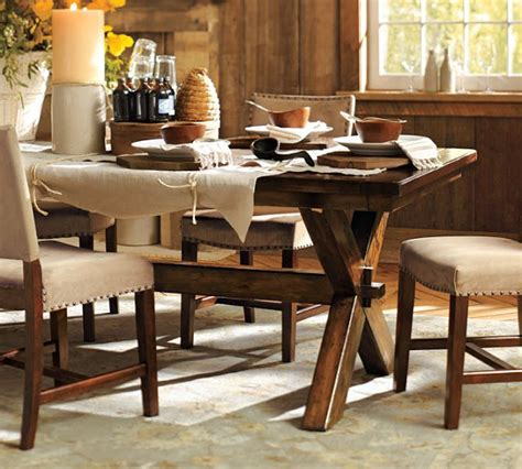 barn dining room table copy cat chic pottery barn toscana dining table