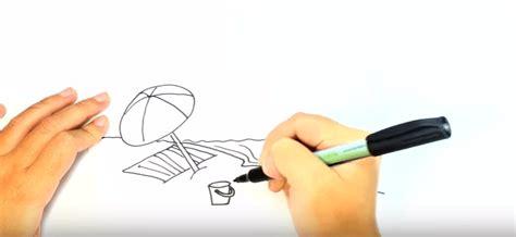 tutorial menggambar pantai cara sketsa pemandangan pantai dengan mudah menggambar unik