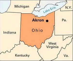 Akron Ohio Map by Akron Location Kids Encyclopedia Children S Homework