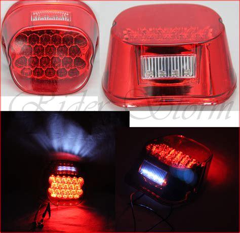 custom tail lights for harley davidson red led crystal tail brake light for harley davidson dyna