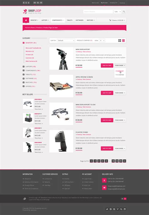 html5 ecommerce templates shoploop responsive html5 ecommerce template by ahmedchan