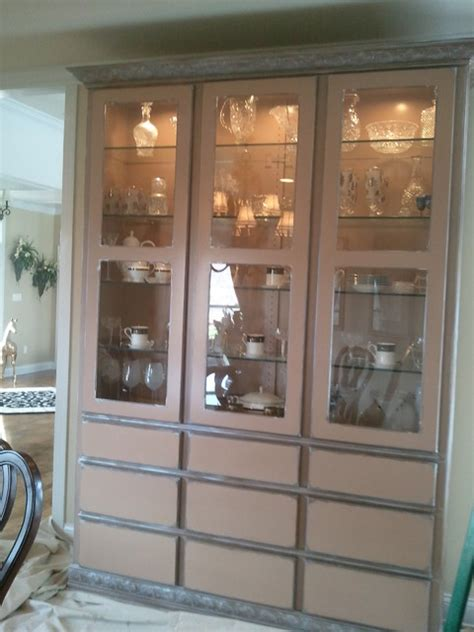 dining hutch wood grained contemporary dining room other metro by suzanne faux finishing