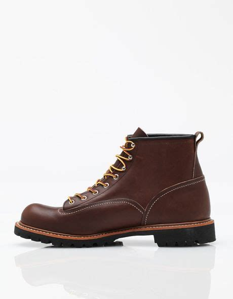 wing lineman boots wing lineman boot in brown for lyst