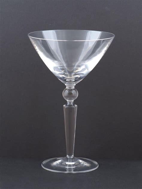 steuben barware steuben counterpoint crystal martini glass at london
