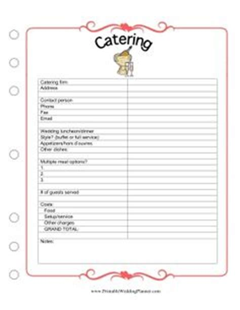 catering planning template 1000 images about how to plan a wedding on