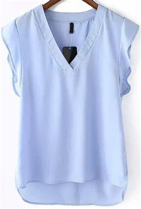 Misel Blouse Sweater Blue Misel Blose light blue sleeveless blouse fashion ql