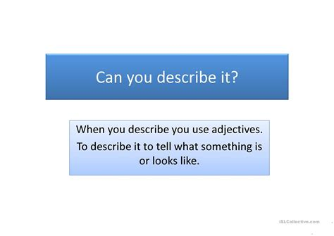 describe it can you describe it worksheet free esl projectable