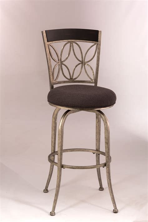 pewter bar stools hillsdale goodwin swivel bar stool pewter espresso wood