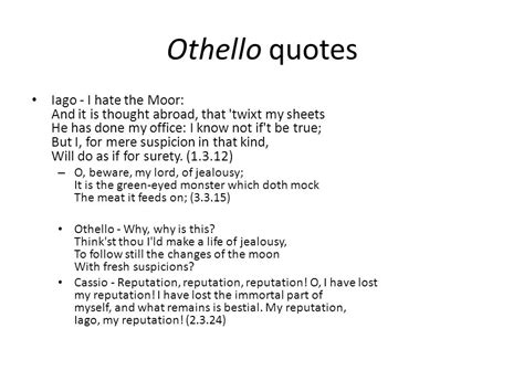 othello themes jealousy quotes othello and frankenstein ppt video online download