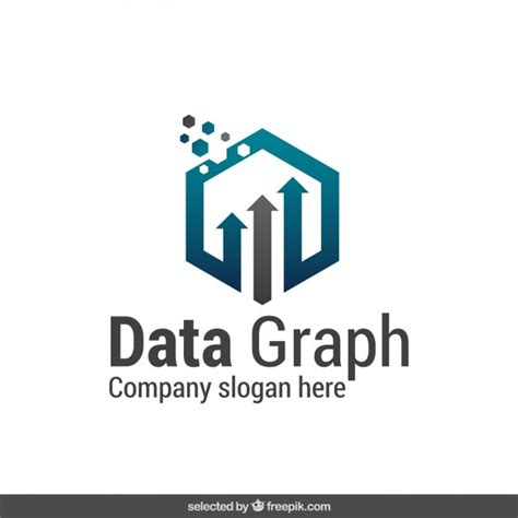data pattern logo abstract data graph logo vector free download