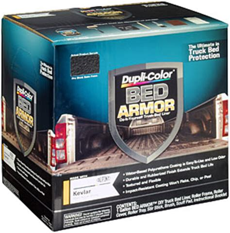 bed armor duplicolor bak2010 bed armor kit includes satin black