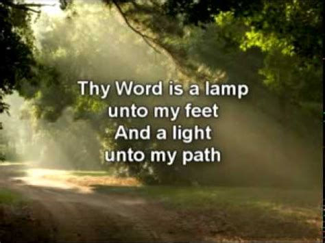 thy word is a l unto my feet thy word youtube