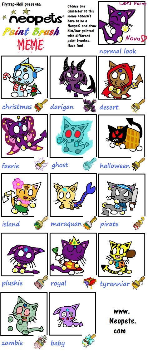 neopet colors neopets colors meme featuring by angelchao64 on