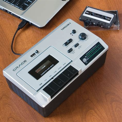 cassette converter the portable cassette to mp3 converter hammacher schlemmer