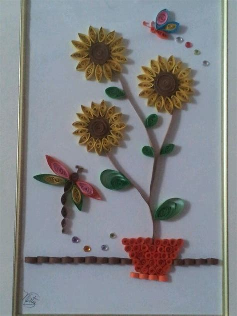 quilling sunflower tutorial 45 best sunflower quilling images on pinterest