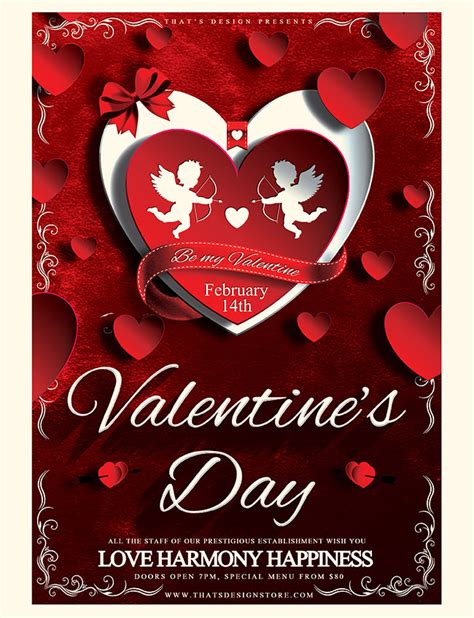 valentines day template 53 fabulous psd flyer templates designs