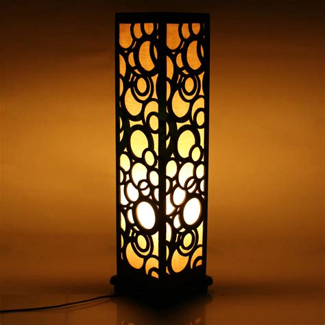 home decor items wooden carved floor l 26 inch indoor lighting home
