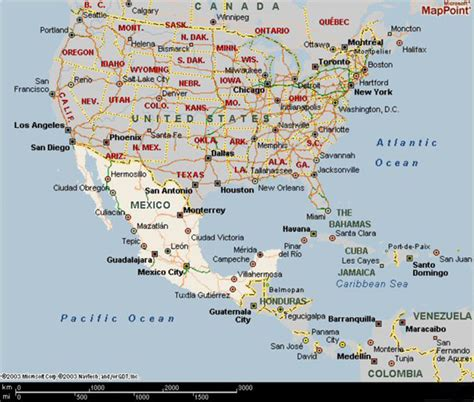 map usa and central america map of usa and caribbean my