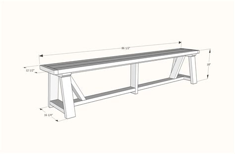 size of bench ana white 2x4 truss benches for alaska lake cabin diy
