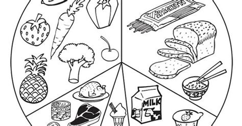 food pyramid coloring page kindergarten list healthy food coloring page crafts pinterest