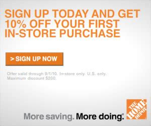 home depot coupon get 10 common sense with money