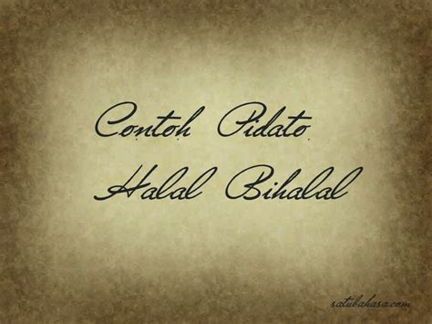 contoh teks pidato bahasa jawa acara halal bihalal