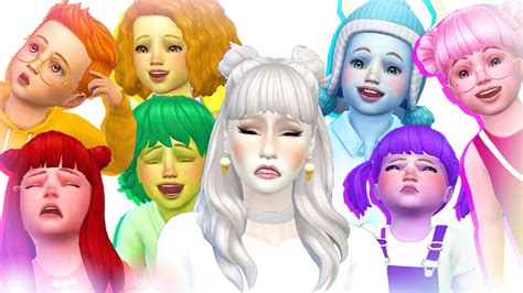Gamis Rainbow Syari Kid 7 toddler challenge cas the sims 4