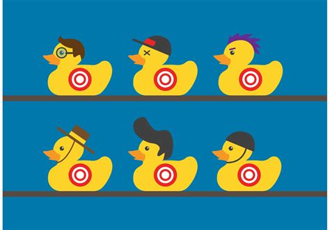 printable duck targets rubber duck target vectors download free vector art